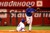 MLB 2010 -  August 30 -  Texas Rangers defeated Kansas City Royals  3-0