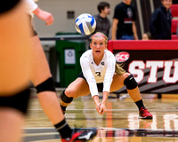 SIUE vs Austin Peay Volleyball 8 Oct 2016