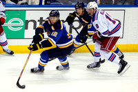 NHL: OCT 09 Rangers at Blues